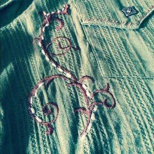 Wrangler Tops - Wrangler/Rock 47 button down shirt